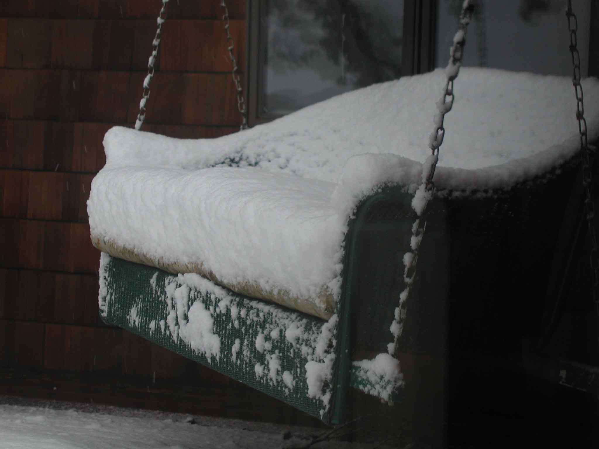 Snow on the Porch Swing